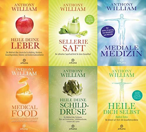 Anthony William 6 Bände im Set + 1 exklusives Postkartenset