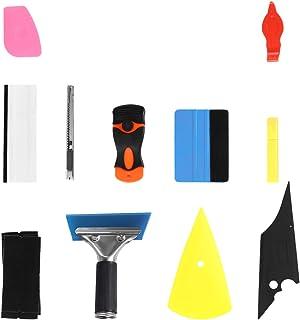 Garneck Kit de 11 peças de ferramentas de envelopamento de vinil para carro, rodos de feltro, cortador de filme, kit de in...