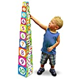 Learning Journey International LLC Play & Learn - Stacking Cubes - STEM Toddler Toys & Gifts for Boys & Girls Ages 12 Months and Up - Mind Building Developmental Learning Toy, Multi (100257)