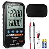 FOCHANC Digital Multimeter TRMS 6000 Counts Auto-Ranging, NCV with AC/DC Voltage Test, Resistance, Continuity, Capacitance, Diodes Temperature Measure, Case and Battery Included