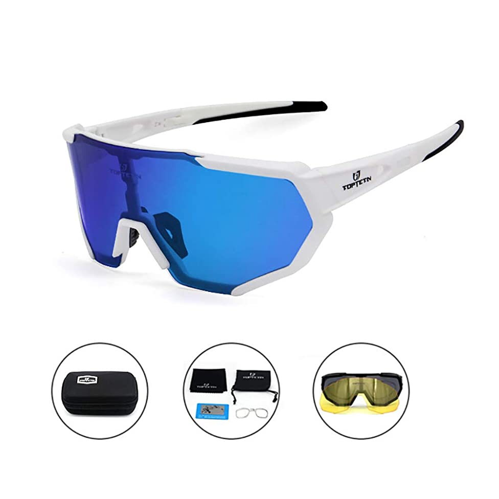 TOPTETN Polarized Sports Sunglasses for Men Women Cycling Running Driving t87268946260580