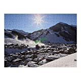 yyone 300 Pieces Jigsaw Puzzles Sunshine Over A Ski Resort Town Austria Fun Puzzle Educational Family Game Toys Gift for Adults Teens