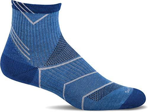 Sockwell Men' s Incline Quarter graduato Compression- Ideale per Corsa, Sport e attività di Fitness, Uomo, Ocean