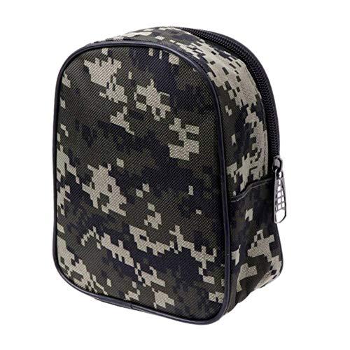 1yess Tarnung Angelrolle Mini-Tasche Taschen-Fischerei-Gerät-Beutel-Kasten Outdoor Sports (Color : Army Green)
