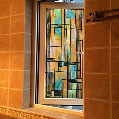 Emmala raamfolie raamfolie voor de badkamer Windows E Sun A 40 x 100 cm (16 x 39 inch) decoratieve folie Home Simplicity Life Decoration glasfolie