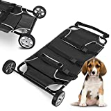 CNCEST Pet Transport Stretcher Animal Trolley Dog Animal Emergency Recovery Mobile Trolley 45x27 inch 250lb Capacity