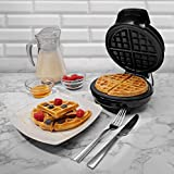 Schallen Black Electric 760W Waffle Maker Iron Machine | Deep Cooking Non Stick Plates | Adjustable Temperature Control