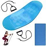 Twist Board, Fitness Balance Board, Torsion Fitness Balance Board para músculos Abdominales y piernas Balance Fitness Board Yoga Board Fisioterapia, Fitness (Bleu)
