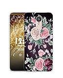 Sunrive Funda Compatible con LG Aristo 2, Silicona Slim Fit Gel Transparente Carcasa Case Bumper de Impactos y Anti-Arañazos Espalda Cover(Q Flor Rosa)