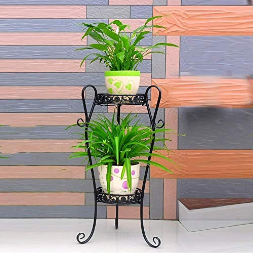 HSJ Soporte de Flor de la Planta Soporte Arte Tiesto Tiesto Soporte Soporte Soporte jardín y la decoración del hogar del Soporte de contenedores Tiesto Presumir (Color : Black, Size : Small)