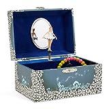 Jewelkeeper - Boîte à Musique de Rangement de Bijoux pour Fille, Fée Virevoltante Bleu et Blanc Etoilé - Mélodie du Lac des Cygnes
