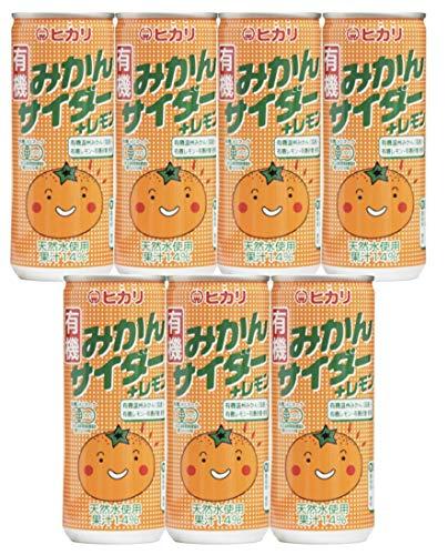 光食品 有機みかんサイダー+レモン250ml x 7本