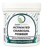 Carbone Vegetale in Polvere Special Ingredients 100 gr qualità premium (etichette ed istruzioni in italiano)