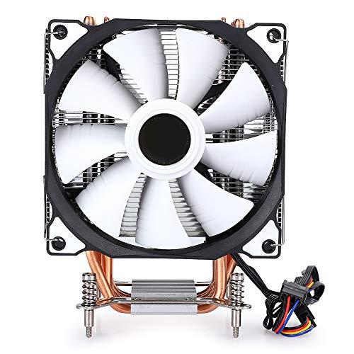 Enfriador de CPU Ventilador Dual, Enfriador de CPU 6 Tubo de Cobre Ultra Silencioso 775 1150 1366 Computadora de Escritorio Ventilador Dual sin Lámpara (6-Tube Four-Wire no Lamp Double Fan)