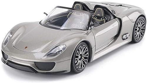 KKD Scale-Modellfahrzeuge Porsche 918 Modell 1 24 Modell Legierung Auto Modell Anime Cartoon Schnelle Furious Für Jungen Spielzeug Mini Fahrzeuge (Farbe   Silber)