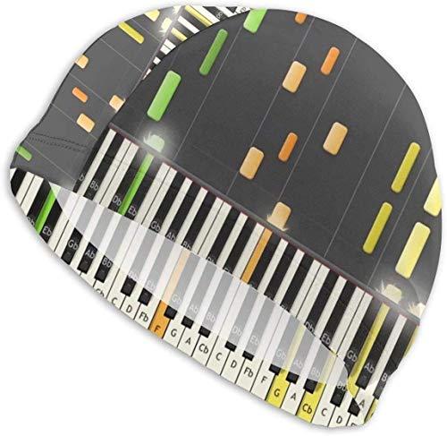 HFHY Swim Cap Hat Piano Keystroke Game Bonnet de Natation pour Cheveux Longs Conçu pour Les Cheveux Longs, épais ou bouclés Adultes