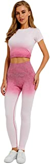 XFKLJ Sports Bra Yoga Pants Fitness Set Yoga Suit Dry Fit Fitness Clothing Women Gym Leggings Yoga Sport Leggings Gym Clot...