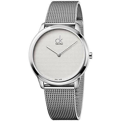 Calvin Klein Gris de Hombre Minimal Swiss Reloj de Pulsera de Malla de Acero Inoxidable 40mm k3m2112y