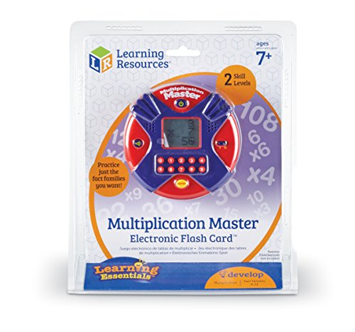 Learning Resources Multiplication Master Electronic Flash Card, Math Skills, Varying Skill Levels, Ages 7+