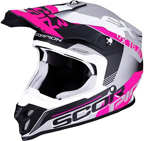 Scorpion 46-266-219-04, Matt Silver-Black-Pink, M