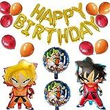 Ballons de Décoration de Fête de Dragon Ball, Décorations de Fête D'anniversaire, Boule à Air de Dessin Animé Dragon Ball Wu, Bannière de Joyeux Anniversaire de Ballon en Aluminium