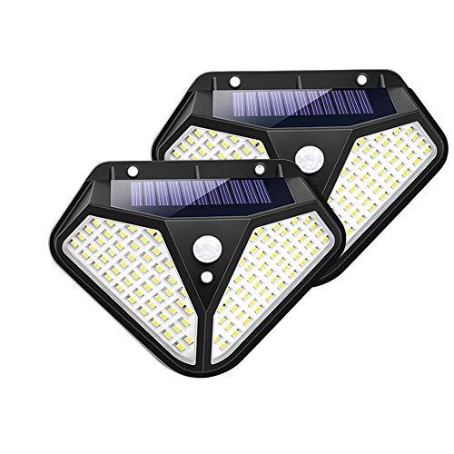 ZHUANYIYI 102 Lámpara Solar LED Luz Solar De Luz Solar Sunshine 3 Modelo PIR Sensor De Movimiento, Usado En Decoración De Jardín Wall Street (Color : 2 Pack)