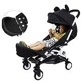 Silla de paseo infantil de extensión de la pierna de refuerzo de cochecito de bebé reposapiés asiento reposapiés tablas para plegable ligero cochecito accesorios