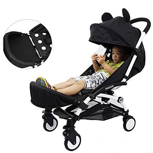 Beinverlängerung für Kinderwagen, Fußstütze, Fußstütze, zusammenklappbar, leicht, Zubehör für Kinderwagen