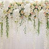 HUAYI Fotogrpahy fondo de la foto del bebé baby shower foto boda flor pared 3d niños fiesta fotos de fondo