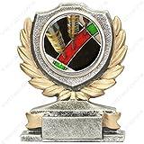 Tecnocoppe - Trofeo para competición de dardos, 12cm de altura, el precio incluye una placa personalizada