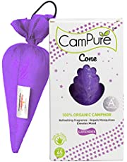Mangalam CamPure Camphor Cone (Lavender) - Room, Car and Air Freshener & Mosquito Repellent (Pack Of 2)