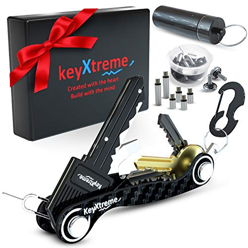 Smart & Compact Key Organizer by keyXtreme, Key Holder Keychain with Round Edges & Improved Anti-Loosening System, Smart Keychain with 10+ Tools...