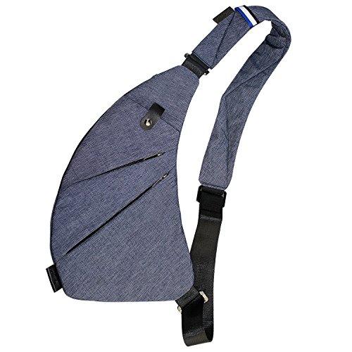 APERIL Schultertasche Schulter Brust Umhängetaschen Leichte Casual Outdoor Sport Travel Wandern Mehrzweck Anti-Diebstahl-Geldbörse Rucksack für Männer
