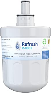 Refresh Replacement for Samsung Aqua-Pure Plus DA29-00003G, DA29-00003A, DA2900002B, DA2900003, DA2900003F, DA290002, HAFCU1, HAFIN2 and Waterdrop WD-DA-29-00003G Refrigerator Water Filter (1 Pack)