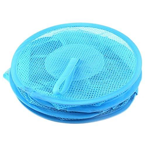 abbybubble Dreischichtiger bunter Netzaufbewahrungsbeutel mit zylindrischer Netzform Hängender Korb Praktische Aufbewahrungsgeräte