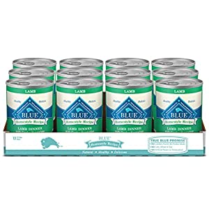 Blue Buffalo Homestyle Recipe Natural Adult Wet Dog Food, Lamb 12.5-oz can (Pack of 12)