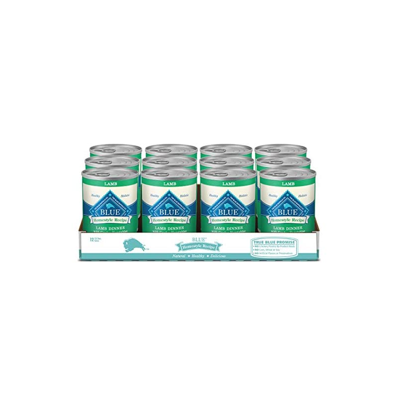 dog supplies online blue buffalo homestyle recipe natural adult wet dog food, lamb 12.5-oz can (pack of 12)