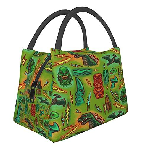 Bolsa térmica portátil ATO_mic Doodles Rosa Bolsas de compras para comestibles, alimentos, plegable, lavable, multifuncional