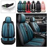 Delanteros Fundas Asiento Coche para Peugeot 206 CC SW Cómodo Fundas Juegos de Cubreasientos Compatible con 95% de Automóviles y Airbag Style B Negro Azul