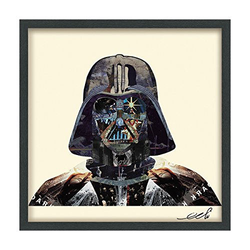 Empire Art Direct Star Wars Darth Vader Dimensional Collage Handmade by Alex Zeng Framed Graphic Famous Person Wall Art, 25