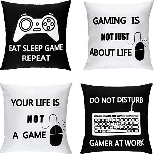 Juego de 4 fundas de cojín motivos Gamers