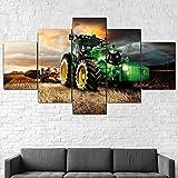 199Tdfc Imprimir En Lienzo Juegos De Dibujo John Deere Tractor Cortacésped Cultivo Lienzo Enmarcado 5 Unids Wall Art Poster Decor