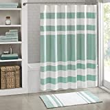 Madison Park Spa Waffle Shower Curtain Microfiber Fabric