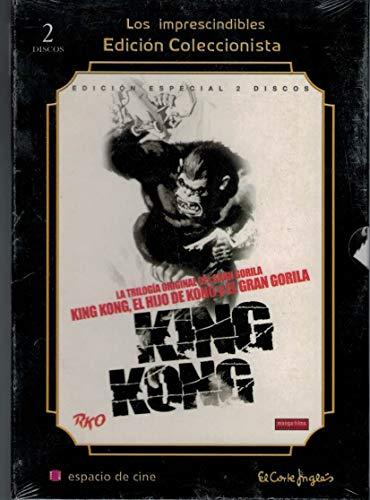 Trilogia King Kong + El Hijo de Kong + El Gran Gorila con funda y Libreto 32 pags (2 DVD)