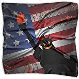 Sunny R Halloween Es Pronto con la Bandera de Estados Unidos Pañuelo de Mujer Bufandas de Moda Elegante Chal Accesorios de Bolso 23.6 Pulgadas