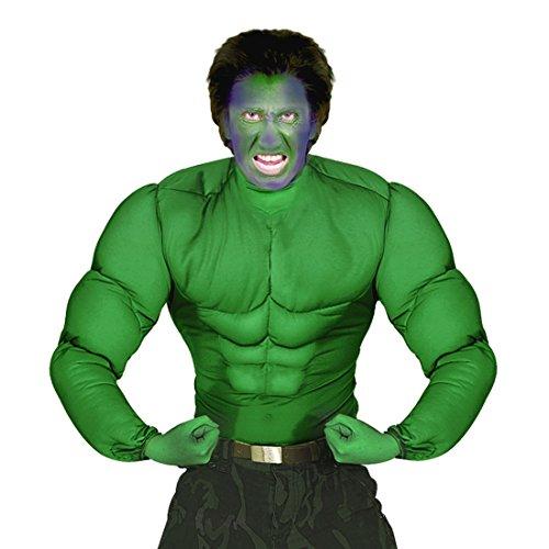 NET TOYS Superhelden Kostüm Hulk Muskelkostüm XL 54 Comic Muskel Shirt grün Superheldenkostüm Sixpack Superheld Verkleidung Halloween Outfit Karnevalskostüme Herren