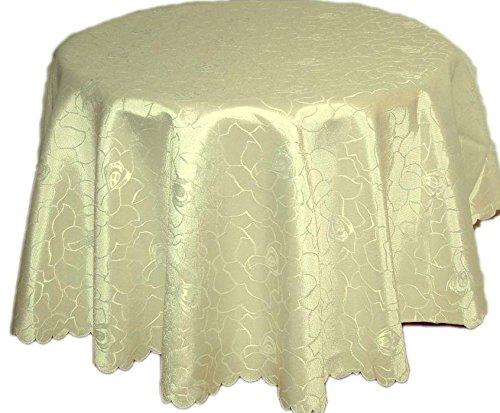 Silver tafelkleed tafelkleed tafellinnen damast polyester lindegroen rozen reliëf ovaal 130x220 cm