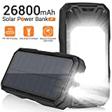 Best Powerbanks - Solar Charger 26800mAh, Portable Solar Power Bank USB Review