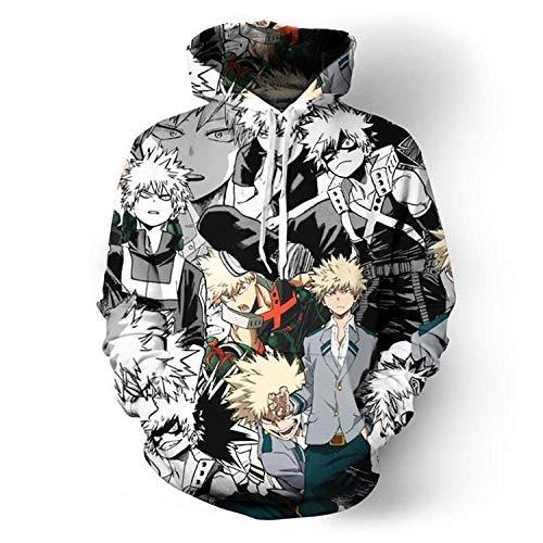 Zaguanxsa Männer My Hero Academia 3D-Print Pullover Hoodie Sweatshirt Mit Fronttasche-W7_L