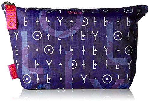 Oilily Damen Ruffles Cosmeticpouch Lhz 1 Clutch, Blau (Dark Blue), 9x23x38.5 cm